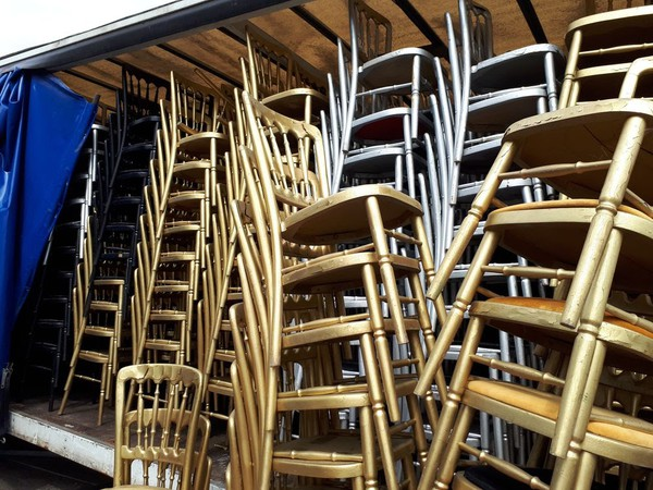 Second hand cheltenham banqueting chairs