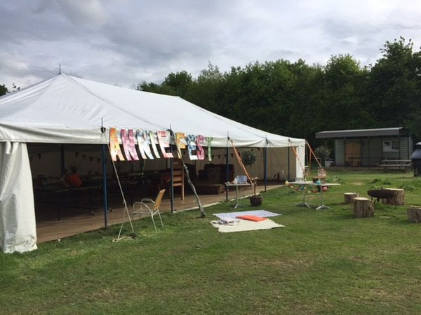 Used glamping marquee