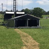 Black stage roof