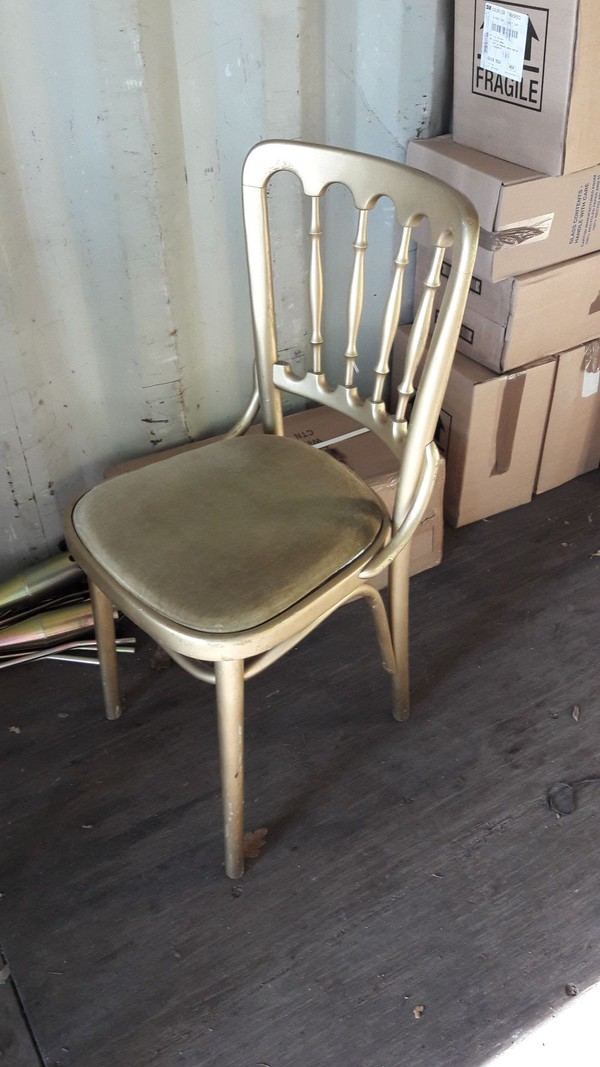 Used gold banqueting chairs UK