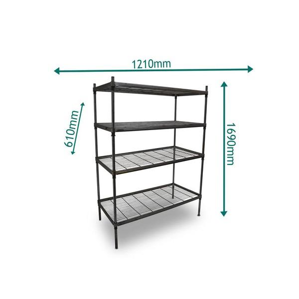 Second hand steel shelves