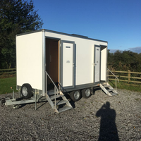 Used phil shaw toilet trailer