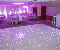 White starlit/pealight dance floor
