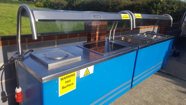 Heated gantry on carvery counter