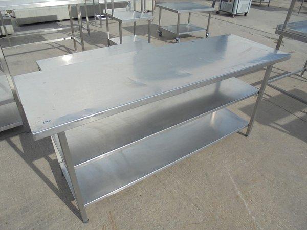 Stainless steel restaurant kitchen table