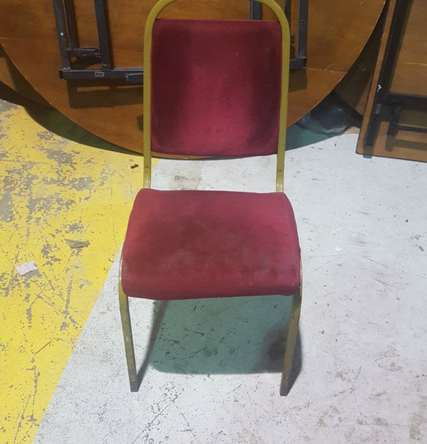 Steel framed banqueting chairs for sale
