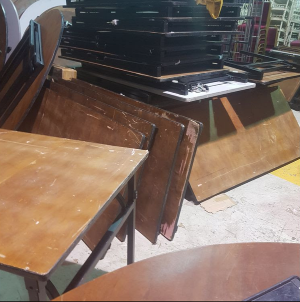 Used banqueting trestle tables