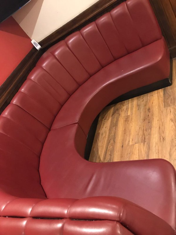 Leather pub sofas UK