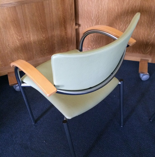 Secondhand leatherette banqueting chair