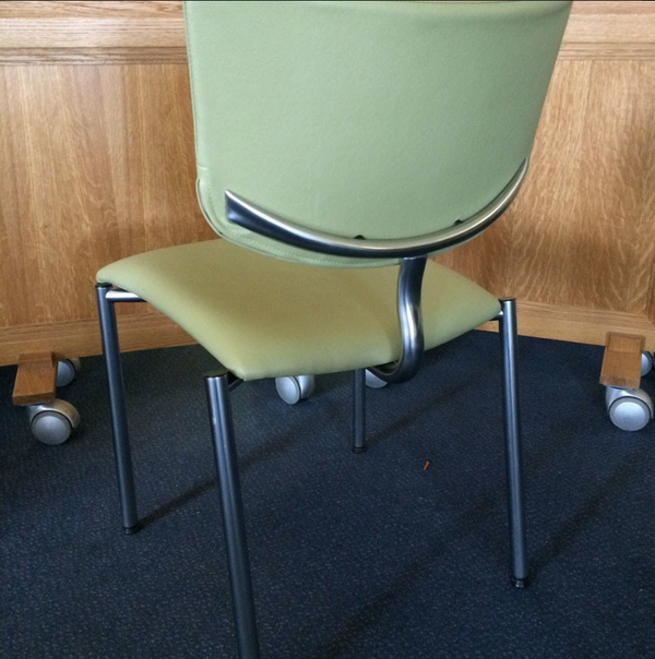 Used leatherette banqueting chairs