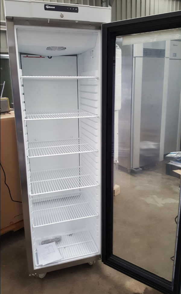 Secondhand Upright shop fridge