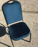 Black metal framed banqueting chairs for sale