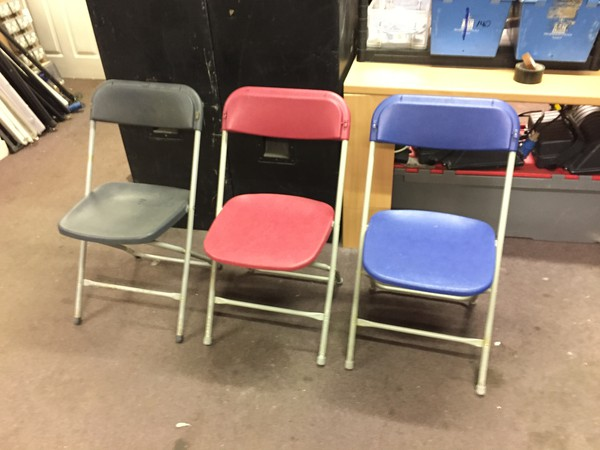 Folding samsonite chairs for sale