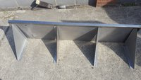 Used steel shelves