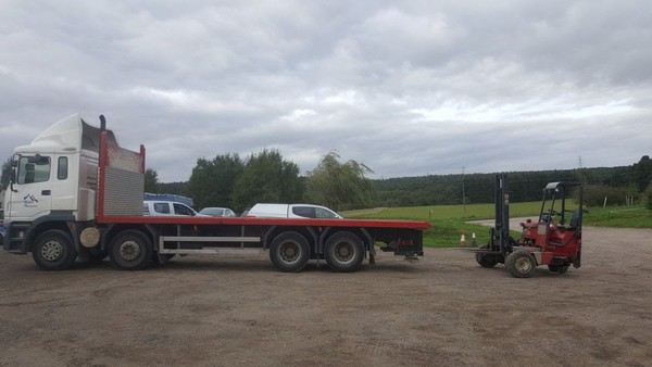Secondhand Multi axle flat bed trailer