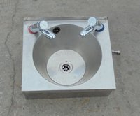 Used steel hand wash sink