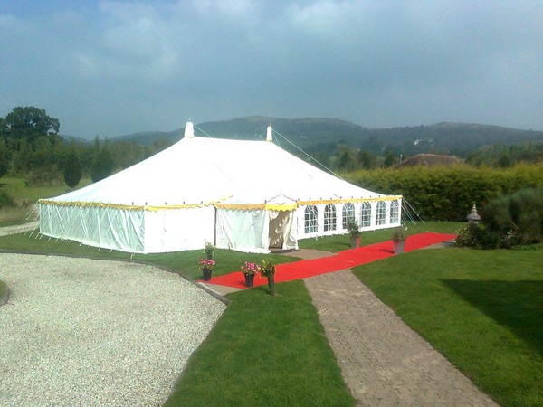Used traditional pole marquee for sale