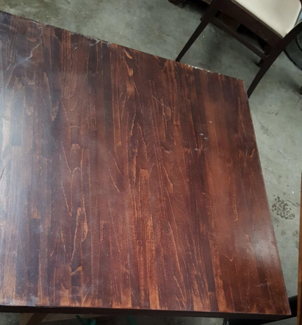 Dark oak table tops for sale