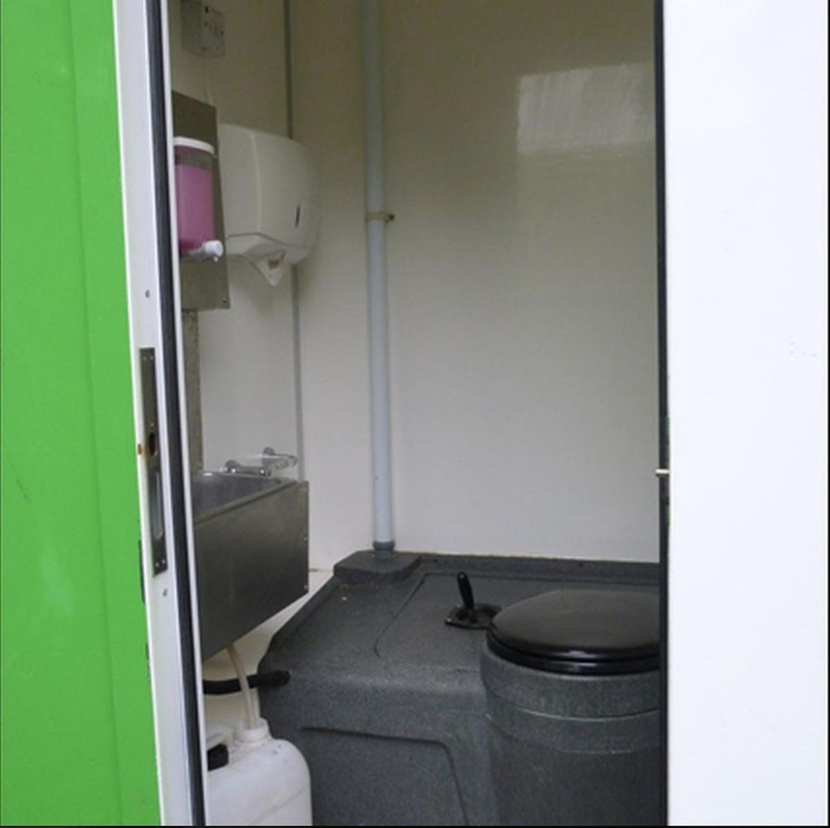 Portable Toilet Exhibition : Portable canteen toilet unit