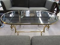 Brass rams head table