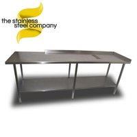 Large commercial steel table for sale