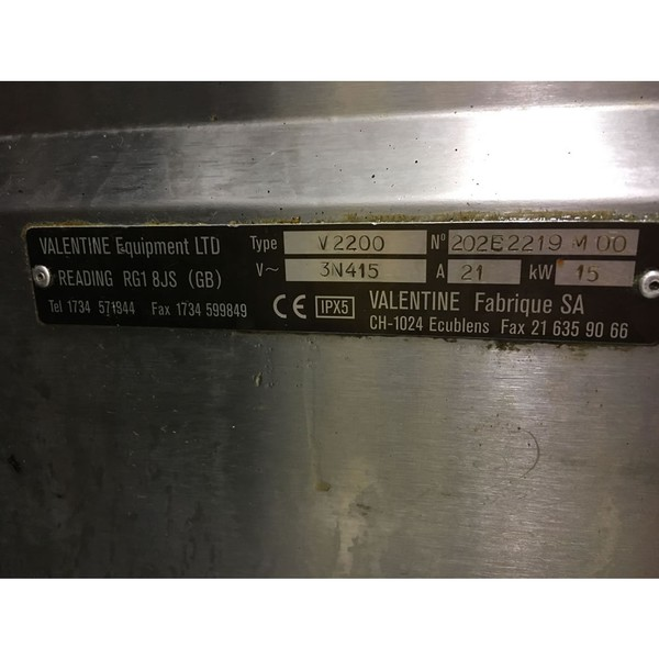 Valentine V2200 Commercial Fryer