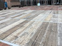 12m x 24m multi span floor with step feet