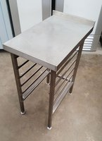 Stainless Steel Table with Gastro Rack
