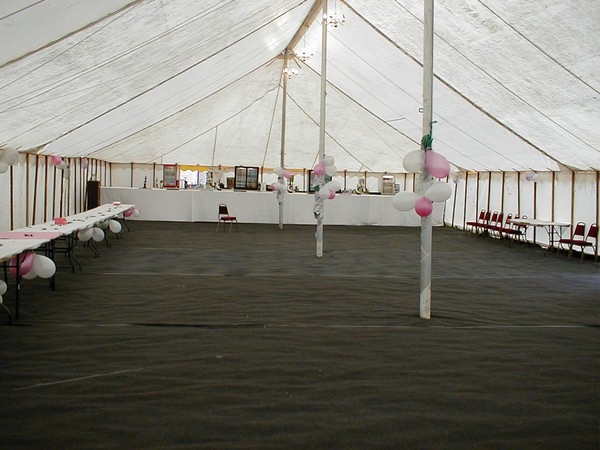 Inside a Trad Marquee