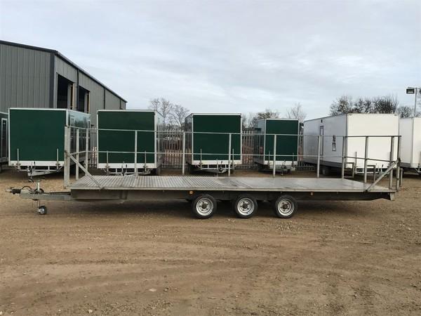 Secondhand portable toilet trailer