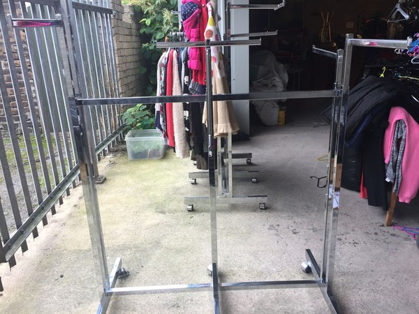 Secondhand Clothes rails