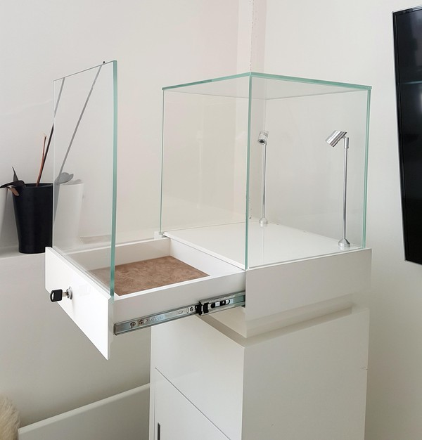 Gloss White Jewellery Display Cabinets with Drawer
