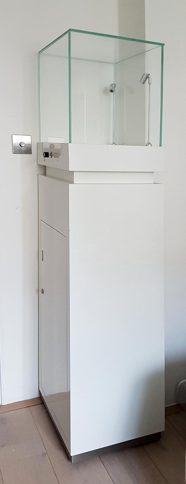 Matching Gloss White Jewellery Display Cabinets