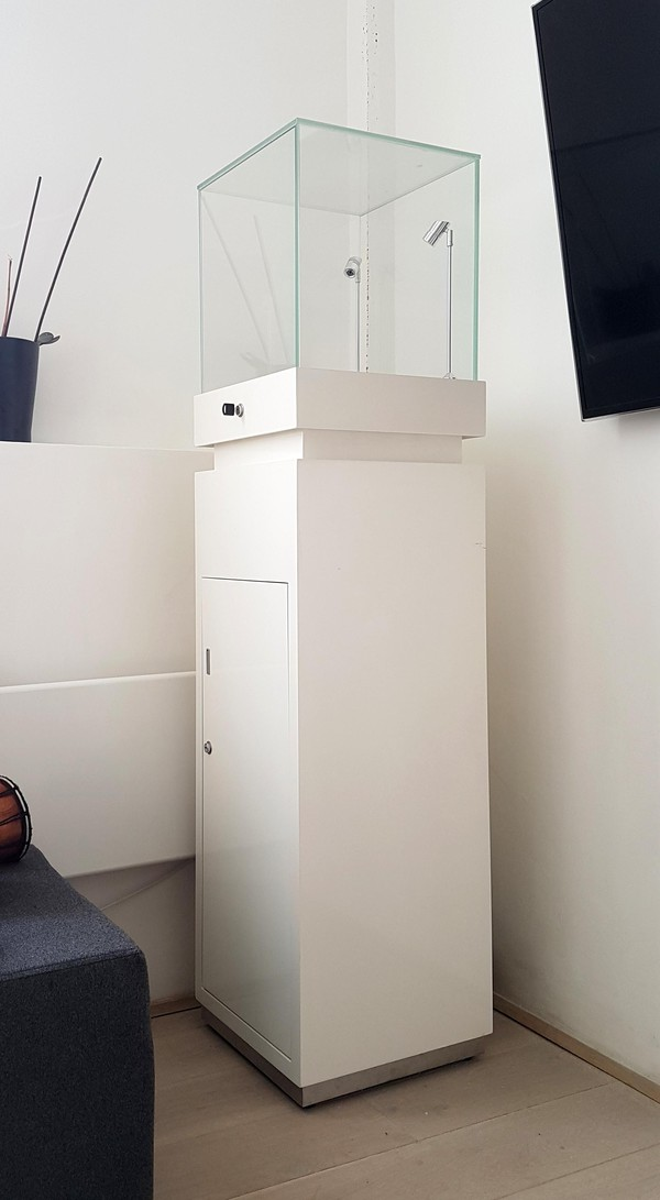 Two Gloss White Jewellery Display Cabinets