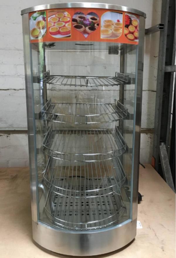 5 tier glass hot food display