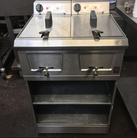 Used double electric fryer