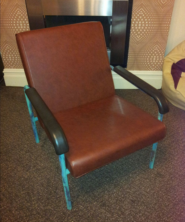 Retro Tan Leather chair