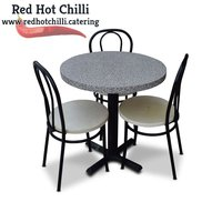 Used marble effect table and chairs for sale