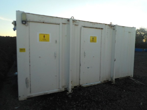 Preowned toilet cabin
