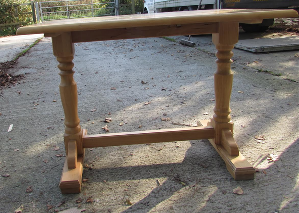 Oak style cafe table