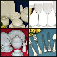 Job lot of tableware