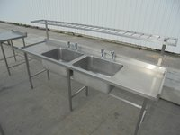 Double bowl sink - used for sale