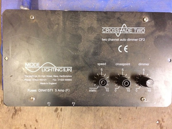 Two channel dimmer unit