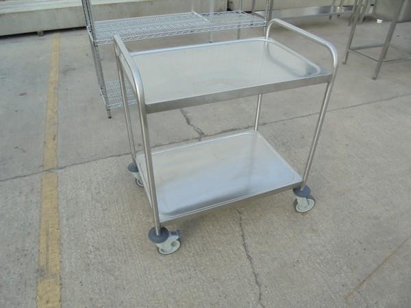 Used Stainless Steel Trolley (5766)
