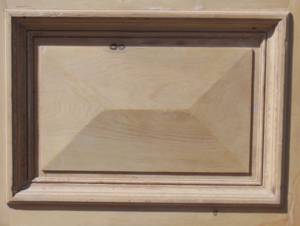 Door with diamond glass panel