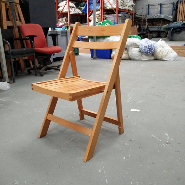 Folding Wooden Chairs in a Vintage Style
