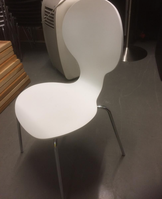 White stacking chairs for sale