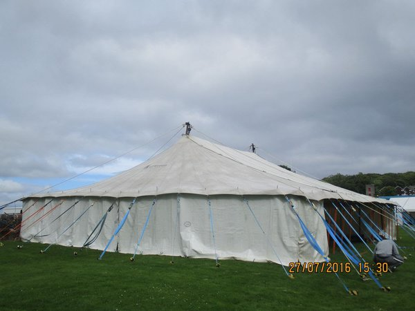 Traditional pole marquee for sale