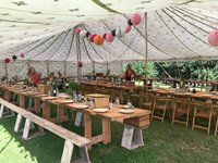 traditional canvas indian pole marquee