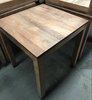 Wooden table with base